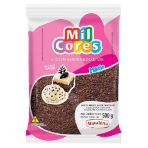 Flocos Macio Sabor Chocolate 500 g Mil Cores Mavalério Rizzo Confeitaria