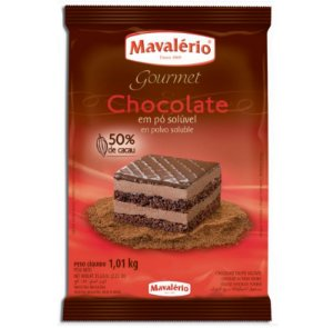 Chocolate em Pó Solúvel 50% Cacau 1 Kg Mavalério Rizzo Confeitaria