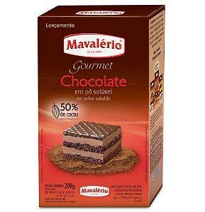 Chocolate em Pó Solúvel 50% Cacau 200 g Mavalério Rizzo Confeitaria