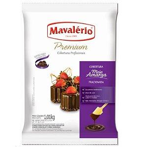 Cobertura em Gotas para derreter Chocolate Meio Amargo 1 kg Mavalério Rizzo Confeitaria