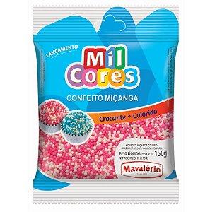 Confeito Miçanga Branca e Rosa Nº 0 150 g Mil Cores Mavalério Rizzo Confeitaria