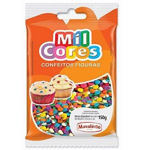Confeito Figura Confete 150 g Mil Cores Mavalério Rizzo Confeitaria