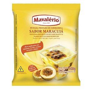Pó para Preparo de Sobremesas Sabor Maracujá 100 g Mavalério Rizzo Confeitaria
