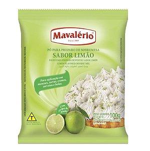 Pó para Preparo de Sobremesas Sabor Limão 100 g Mavalério Rizzo Confeitaria