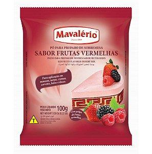 Pó para Prepraro de Sobremesas Sabor Frutas Vermelhas 100 g Mavalério Rizzo Confeitaria