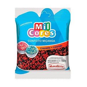 Confeito Miçanga Preta e Vermelha Nº 0 150 g Mil Cores Mavalério Rizzo Confeitaria