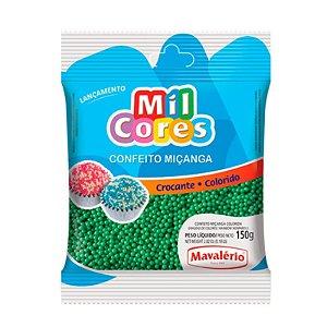 Confeito Miçanga Verde Nº 0 150 g Mil Cores Mavalério Rizzo Confeitaria