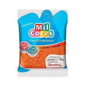 Confeito Miçanga Laranja Nº 0 150 g Mil Cores Mavalério Rizzo Confeitaria