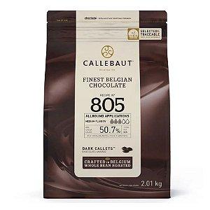Chocolate Callebaut Amargo 805-BR-U76 Gotas 2 kg Rizzo Confeitaria