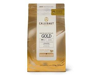 Chocolate Callebaut Caramelo Gold - CHK-R30GOLD-BR-U75 Gotas 2,5 kg Rizzo Confeitaria
