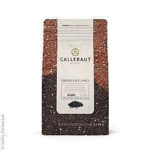 Chocolate Callebaut Amargo Flakes SPLIT-9-D Flocos 1 kg Rizzo Confeitaria