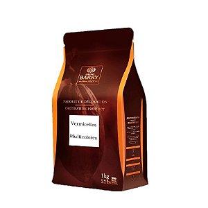 Chocolate Callebaut Colorido Vermicelli M-7-VM-BR-U73 Granulado 1 kg Rizzo Confeitaria