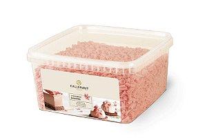 Chocolate Callebaut Blossoms Morango - CHF-BS-19501C-999 -1kg Rizzo Confeitaria