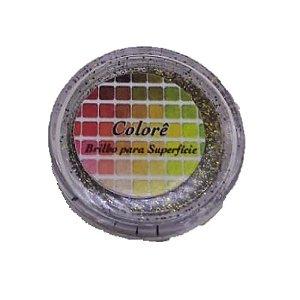 Brilho para superficie, Gliter Preto com Ouro 17PP 1,5g LullyCandy Rizzo Confeitaria