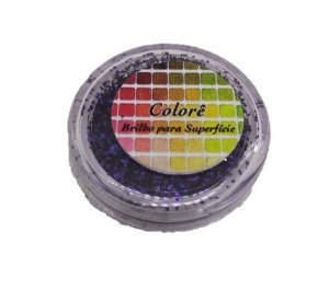 Brilho para superficie, Gliter Azul Escuro 37PP 2g LullyCandy Rizzo Confeitaria