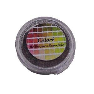 Brilho para superficie, Gliter Marrom 40PP 1,5g LullyCandy Rizzo Confeitaria