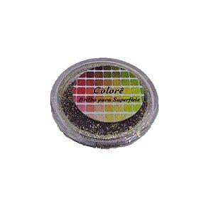 Brilho para superficie, Gliter Dourado com Marrom 39PP 1,5g LullyCandy Rizzo Confeitaria