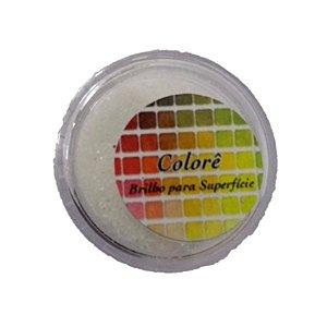 Brilho para superficie, Gliter Branco 3PP 1,5g LullyCandy Rizzo Confeitaria
