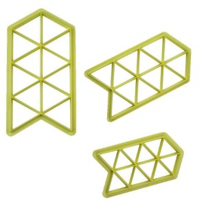 Cortador Geométrico Triângulo com 3 peças Blue Star Rizzo Confeitaria
