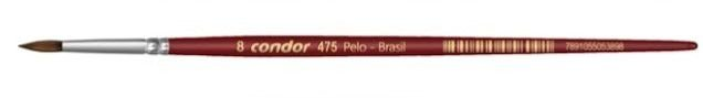 Pincel Artístico 1 un. Modelo 475-8 Condor Rizzo Confeitaria