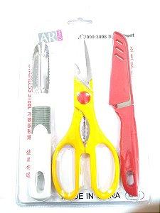 Kit Utensílios para Cozinha Nº01 - 3 pç AR Casa Rizzo Confeitaria