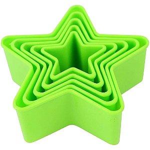 Kit Forminhas Plástica Estrelas 5 pç Clink Rizzo Confeitaria