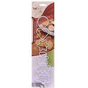 Kit Cortadores Variado 6 pç Wellmix  Rizzo Confeitaria