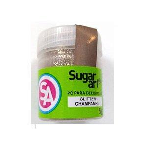 Pó para Decoração, Gliter Champanhe 5g Sugar Art Rizzo Confeitaria