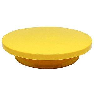 Bailarina - Prato Giratório Amarelo 30 cm Fazendo a Festa Rizzo Confeitaria