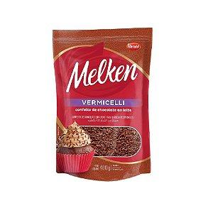 Confeito de Chocolate ao Leite Vermicelli Melken 400g Harald Rizzo Confeitaria