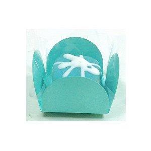 Forminha 4 Pétalas Tiffany com 50 un. Embalagens para Doces Rizzo Confeitaria