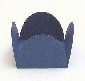 Forminha 4 Pétalas Azul Marinho com 50 un. Embalagens para Doces Rizzo Confeitaria