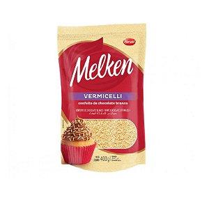 Confeito de Chocolate Branco Vermicelli Melken 400g Harald Rizzo Confeitaria