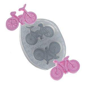 Molde de silicone Bicicletas Ref. 45 Flexarte Rizzo Confeitaria