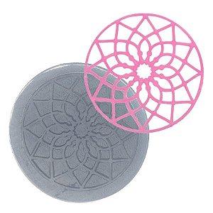 Molde de Silicone Renda Redonda Mandala Ref. 119 Flexarte Rizzo Confeitaria