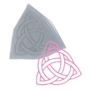 Molde de Silicone Renda Triangulo Entrelaçado Ref. 121 Flexarte Rizzo Confeitaria