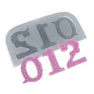 Molde de Silicone Números Grande 0,1,2 Ref. 148 Flexarte Rizzo Confeitaria