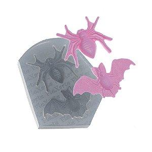 Molde de Silicone Morcego + aranha Ref. 242 Flexarte Rizzo Confeitaria
