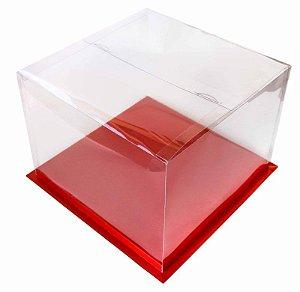 Caixa para Bolo Vermelha 30 cm 1 un. Eluhe Rizzo Confeitaria