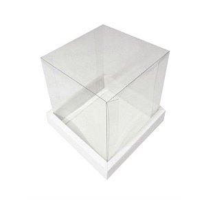 Caixa Bolo Branca 20 cm Assk Rizzo Confeitaria