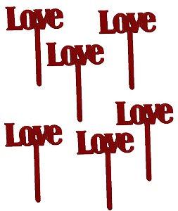 Tag Love com 6 un. Vivarte Rizzo Confeitaria