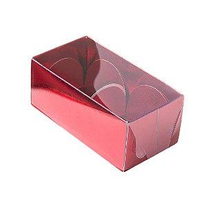 Caixa Nº 2 Vermelha com Tampa Transparente 10 un. Assk Rizzo Confeitaria