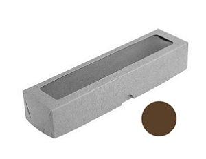 Caixa S13 Marrom com Visor 10 un. Assk Rizzo Confeitaria