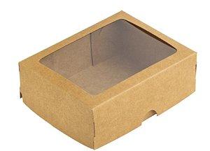 Caixa S19 Kraft com Visor 10 un. Assk Rizzo Confeitaria