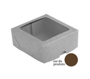 Caixa S11 Marrom com Visor 10 un. Assk Rizzo Confeitaria