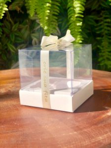 Caixa Mini Bolo M Branca 10 un. Assk Rizzo Confeitaria