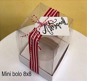 Caixa Mini Bolo G Branca 10 un. Assk Rizzo Confeitaria