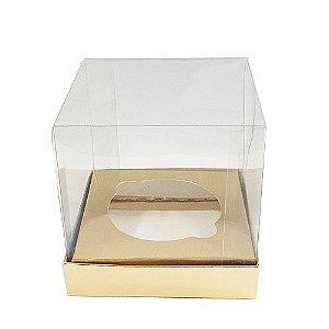 Caixa Mini Bolo G Dourada 10 un. Assk Rizzo Confeitaria