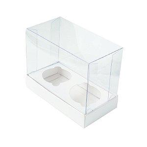 Caixa CupCake Mini Duplo Branca  10 un. Assk Rizzo Confeitaria