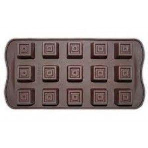 Forma de Silicone Chocolate Quadrado Le Chef Rizzo Confeitaria